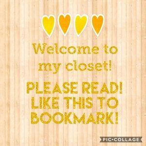 Closet info~please read & like to bookmark🥰💕